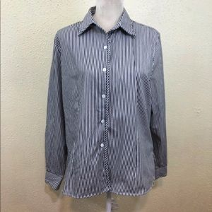 Foxcroft Wrinkle Free Striped Button Up